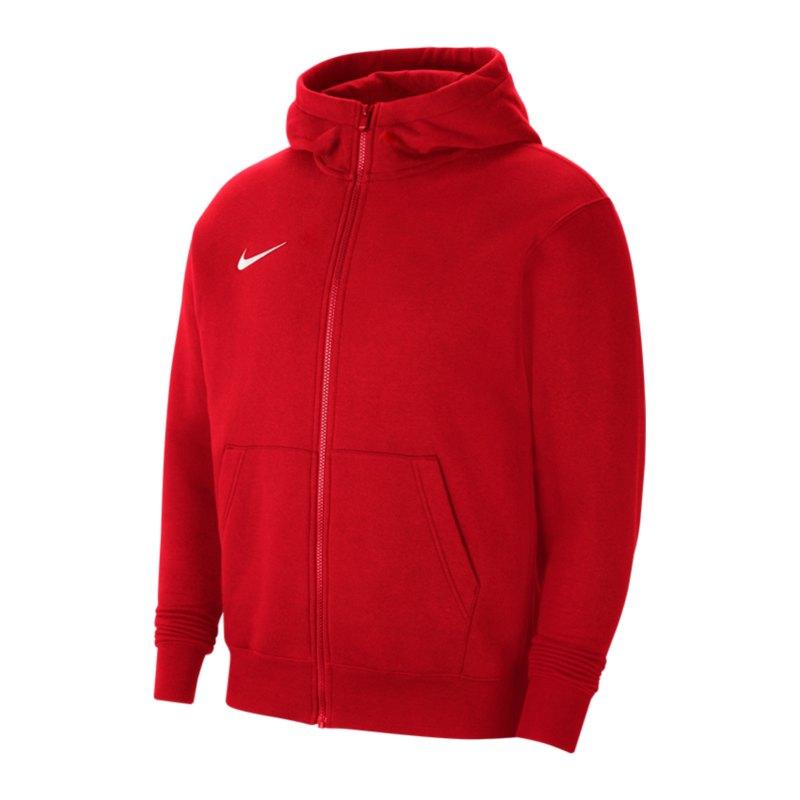 Nike Park 20 Fleece Kapuzenjacke Kids Rot F657 - rot