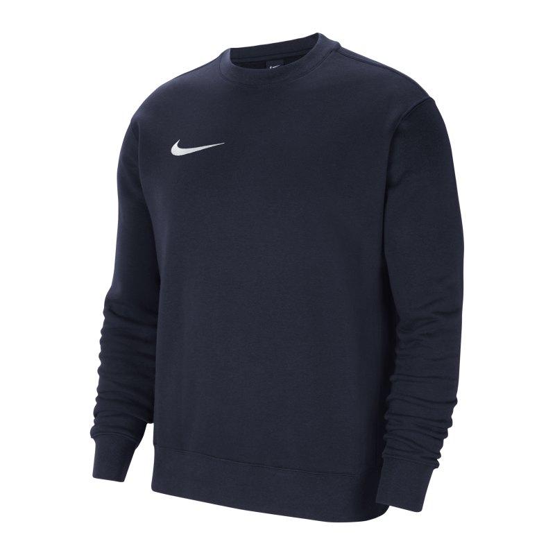 Nike Park 20 Fleece Sweatshirt Blau Weiss F451 - blau