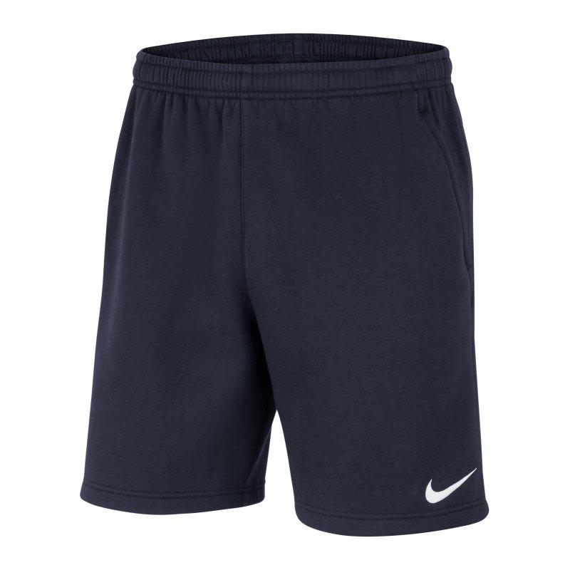 Nike Park 20 Fleece Short Blau Weiss F451 - blau