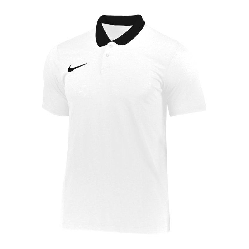 Nike Park 20 Poloshirt Weiss Schwarz F100 - weiss