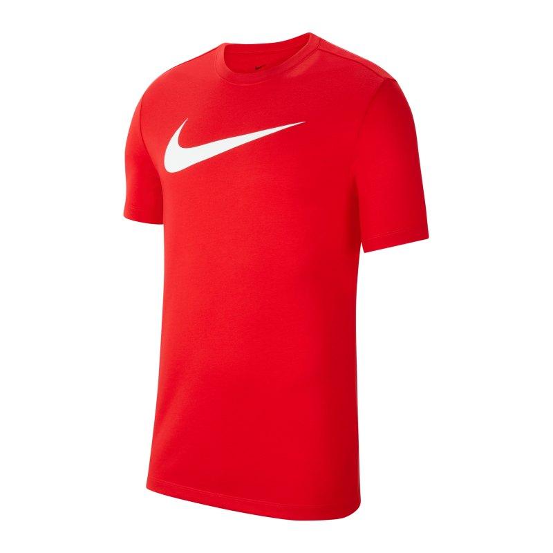 Nike Park 20 T-Shirt Swoosh Rot F657 - rot