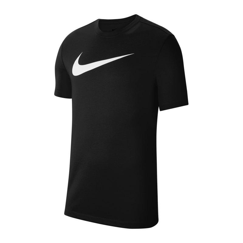 Nike Park 20 T-Shirt Swoosh Schwarz F010 - schwarz