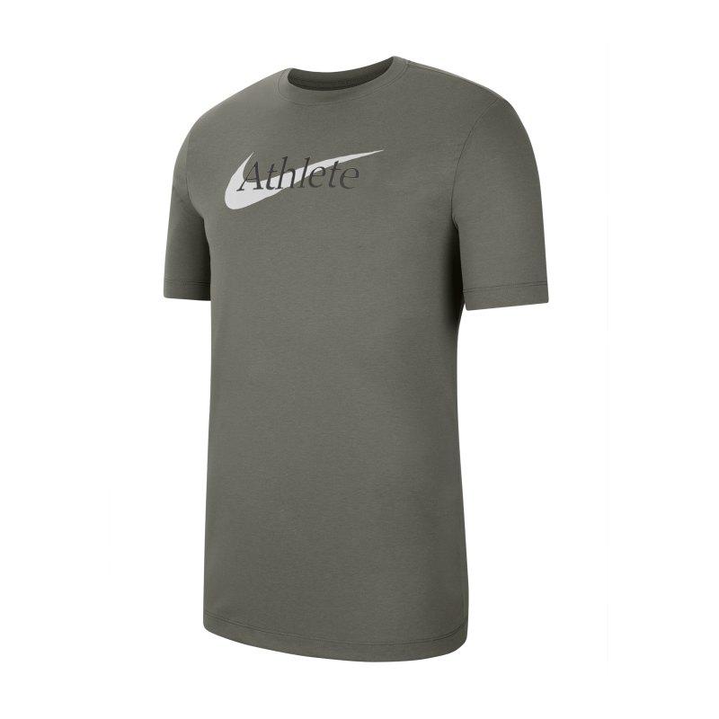 Nike Athlete Swoosh T-Shirt Grau F320 - grau