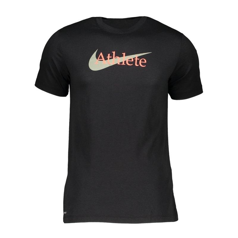 Nike Athlete Swoosh T-Shirt Schwarz F014 - schwarz