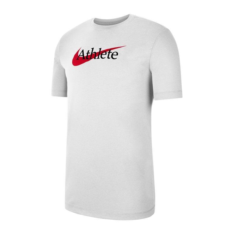 Nike Athlete Swoosh T-Shirt Weiss F100 - weiss