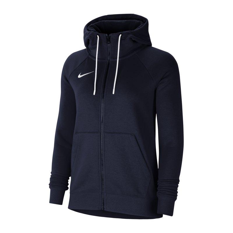 Nike Park 20 Fleece Kapuzenjacke Damen Blau F451 - blau