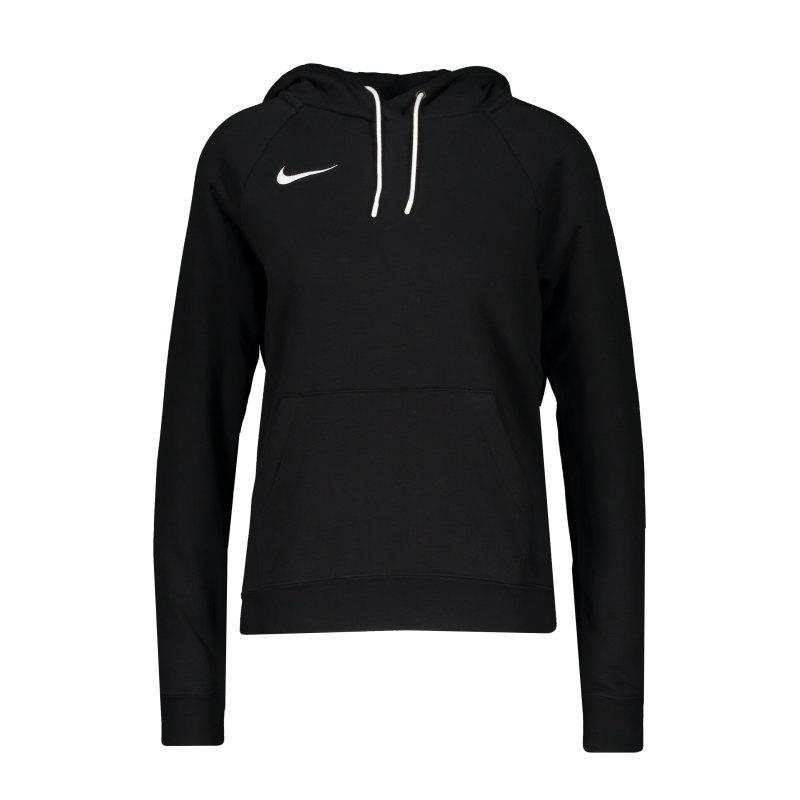 Nike Park 20 Fleece Hoody Damen Schwarz Weiss F010 - schwarz