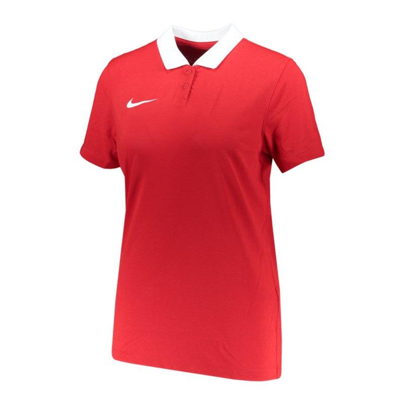 Nike Park 20 Poloshirt Damen Rot Weiss F657 - rot