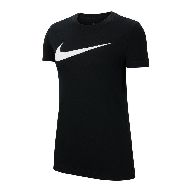 Nike Park 20 T-Shirt Swoosh Damen Schwarz F010 - schwarz