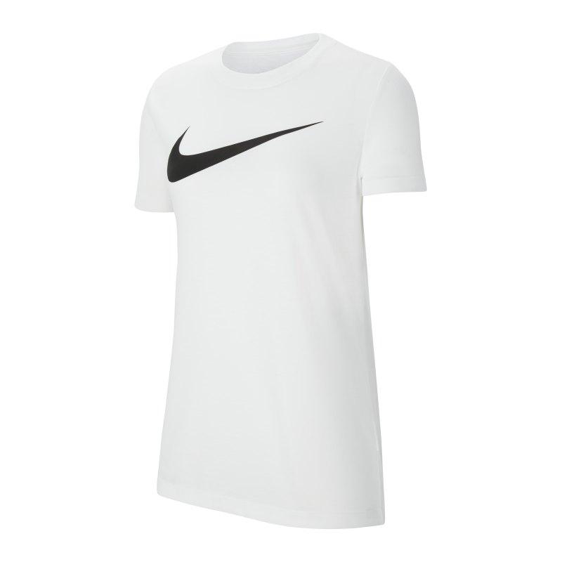 Nike Park 20 T-Shirt Swoosh Damen Weiss F100 - weiss