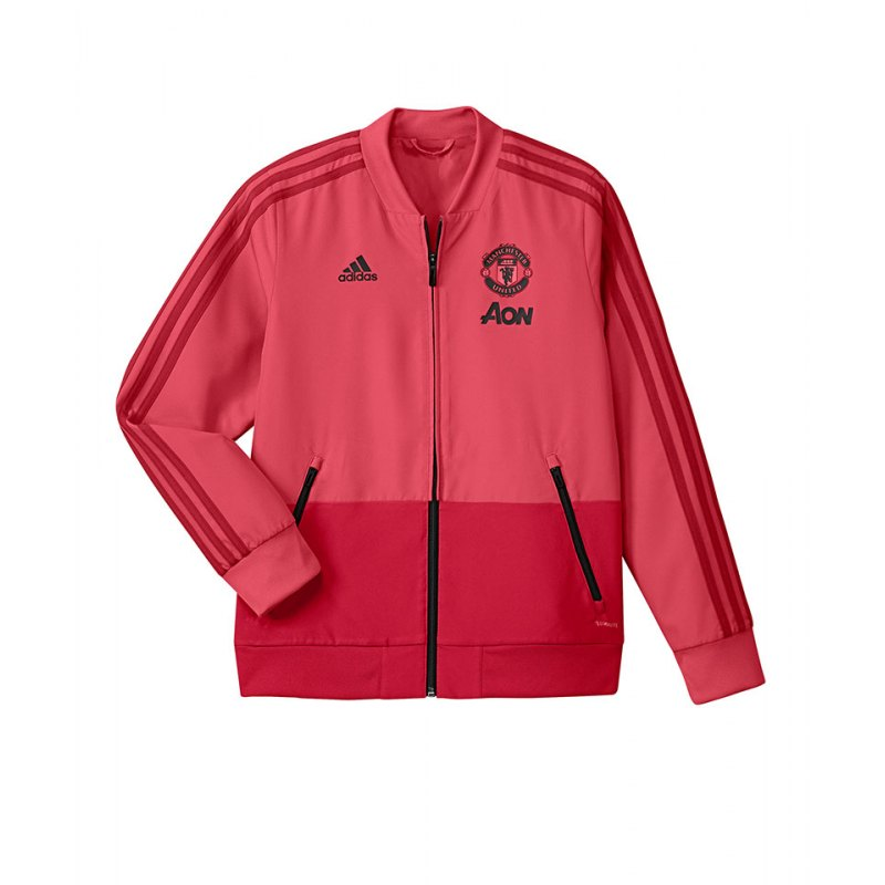 adidas Manchester United Präsi-Jacke Kids Pink - pink