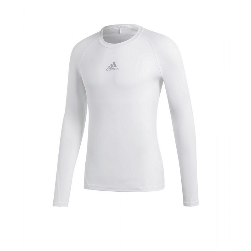 adidas Alphaskin Sport Shirt Longsleeve Weiss - weiss