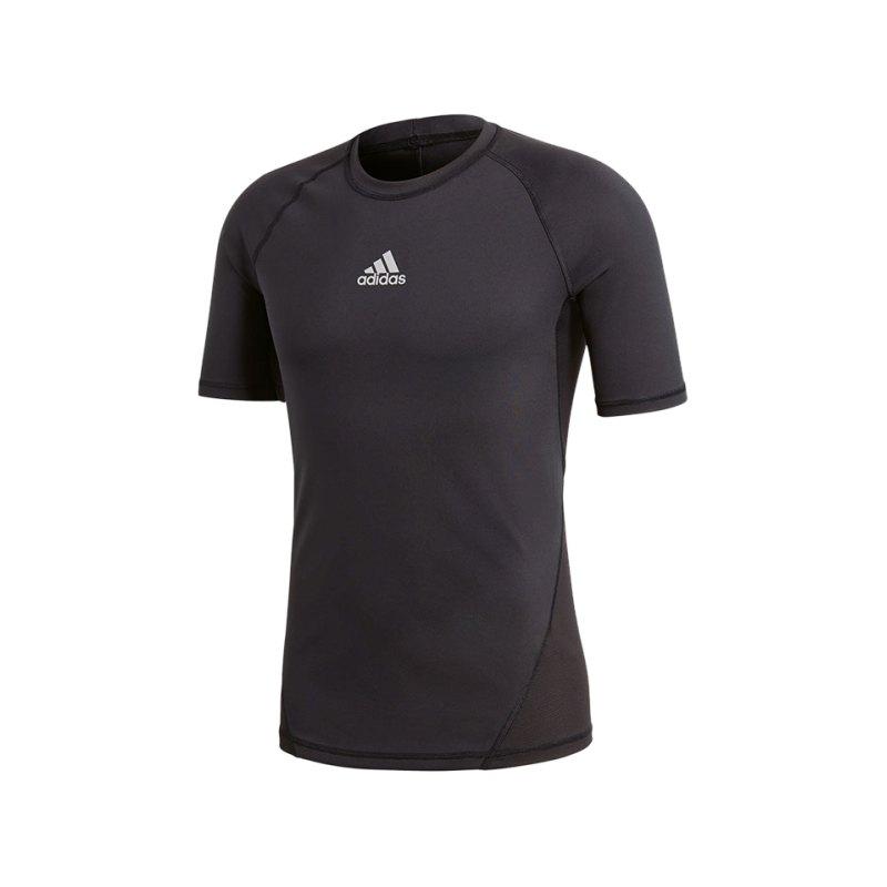 adidas Alphaskin Sport Kurzarmshirt Schwarz - schwarz