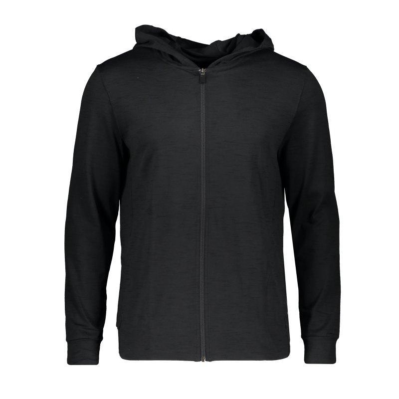 Nike Yoga Kapuzenjacke Training Schwarz F010 - schwarz