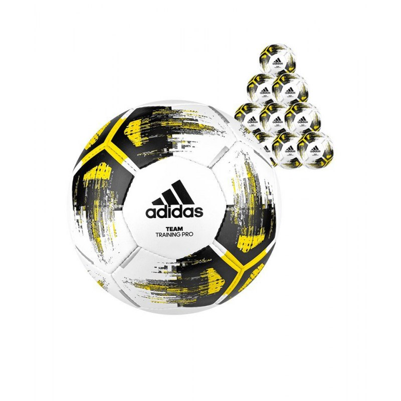 adidas Team Trainingpro 20xFußball Weiss Gelb - weiss