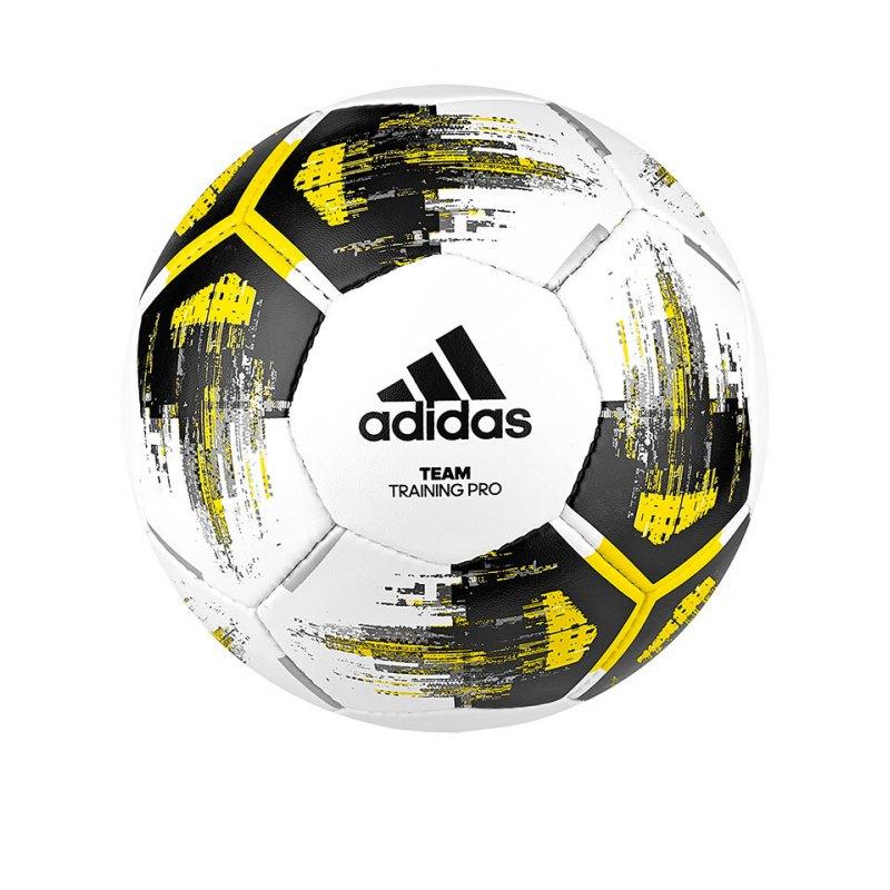 adidas Team Trainingpro Trainingsball Weiss Gelb - weiss