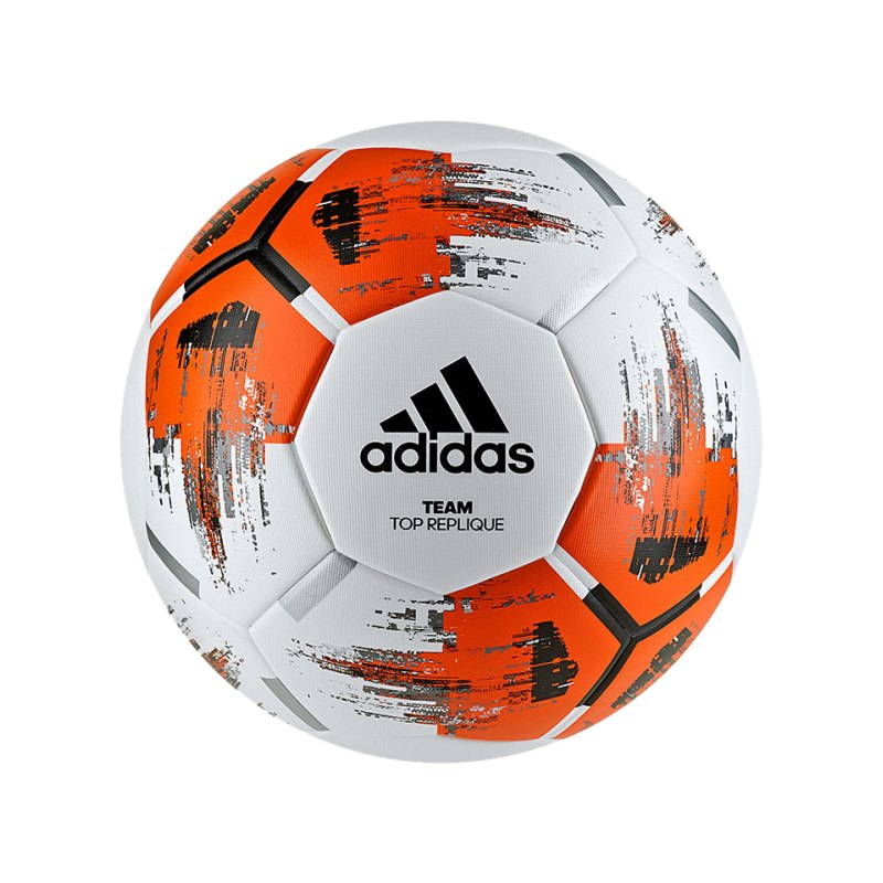 adidas Team Topreplique Trainingsball Weiss Orange - weiss