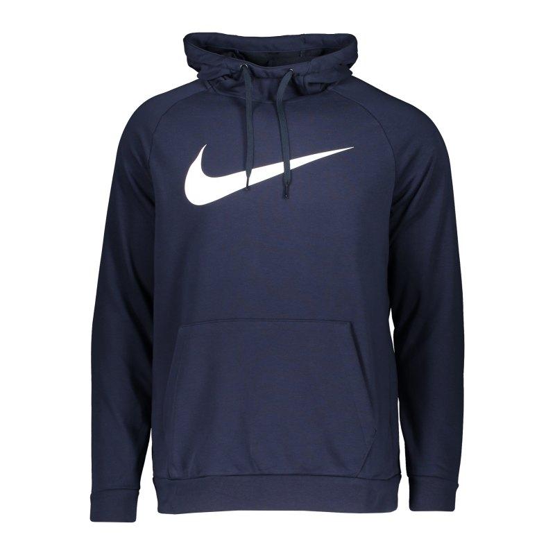 Nike Dri-FIT Swoosh Hoody Grün Blau Weiss F451 - blau