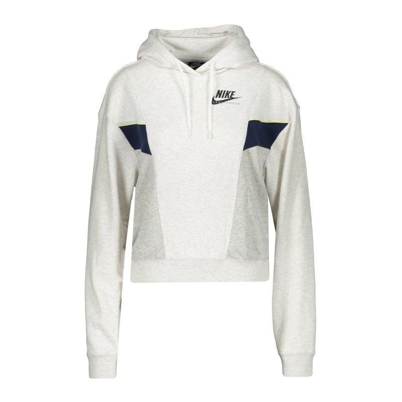 Nike Heritage Hoody Damen Weiss Grau F051 - weiss