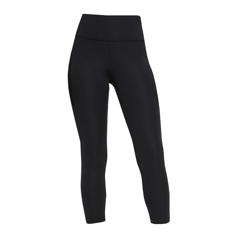 Nike Fast Crop Leggings Running Damen Schwarz F010 - schwarz