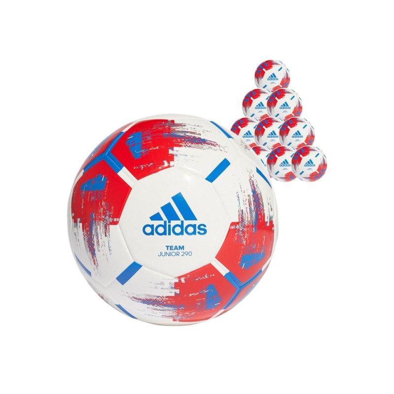 adidas Team Junior 290 Gramm 50xFußball Gr.5 Weiss - weiss