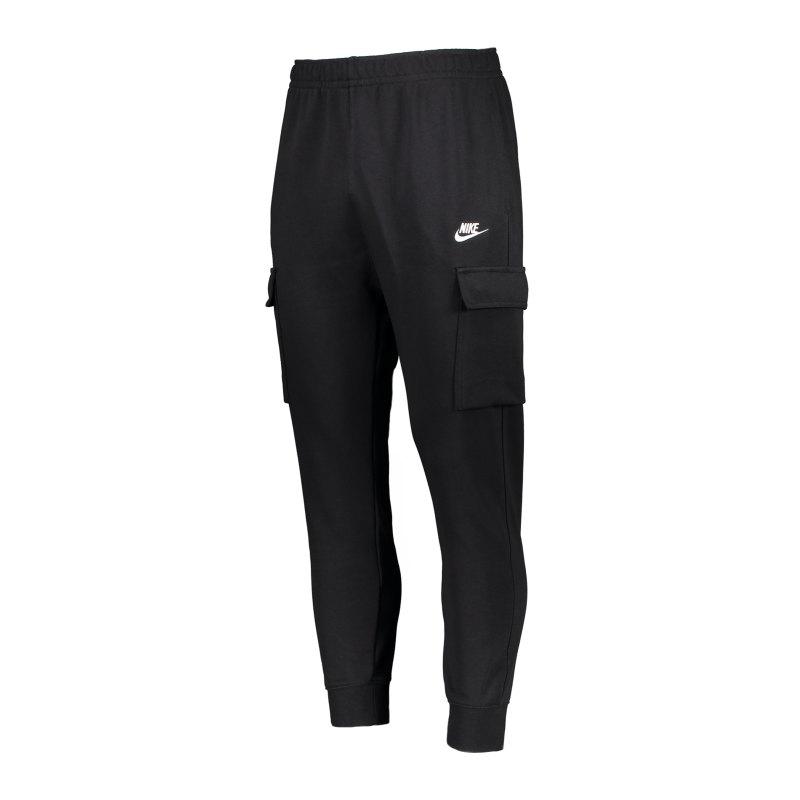 Nike Club Cargo Hose Schwarz Weiss F010 - schwarz
