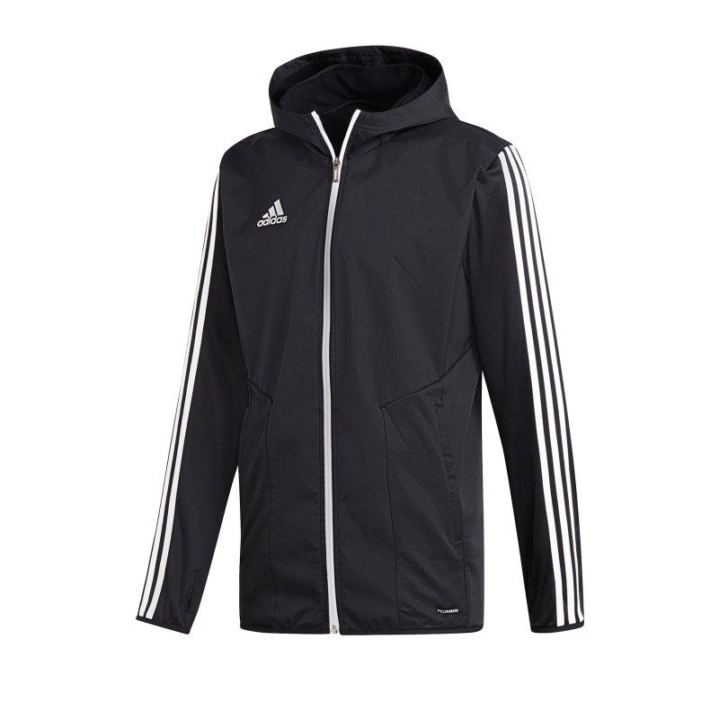 adidas Tiro 19 Warm Jacket Jacke Schwarz Weiss - schwarz