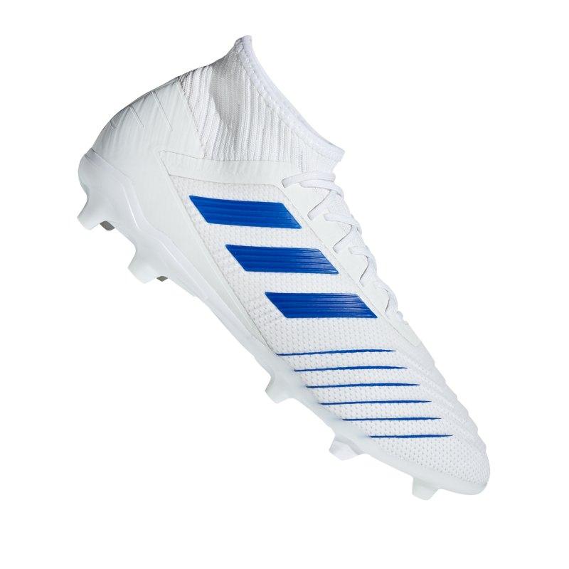 adidas Predator 19.2 FG Weiss Blau - weiss