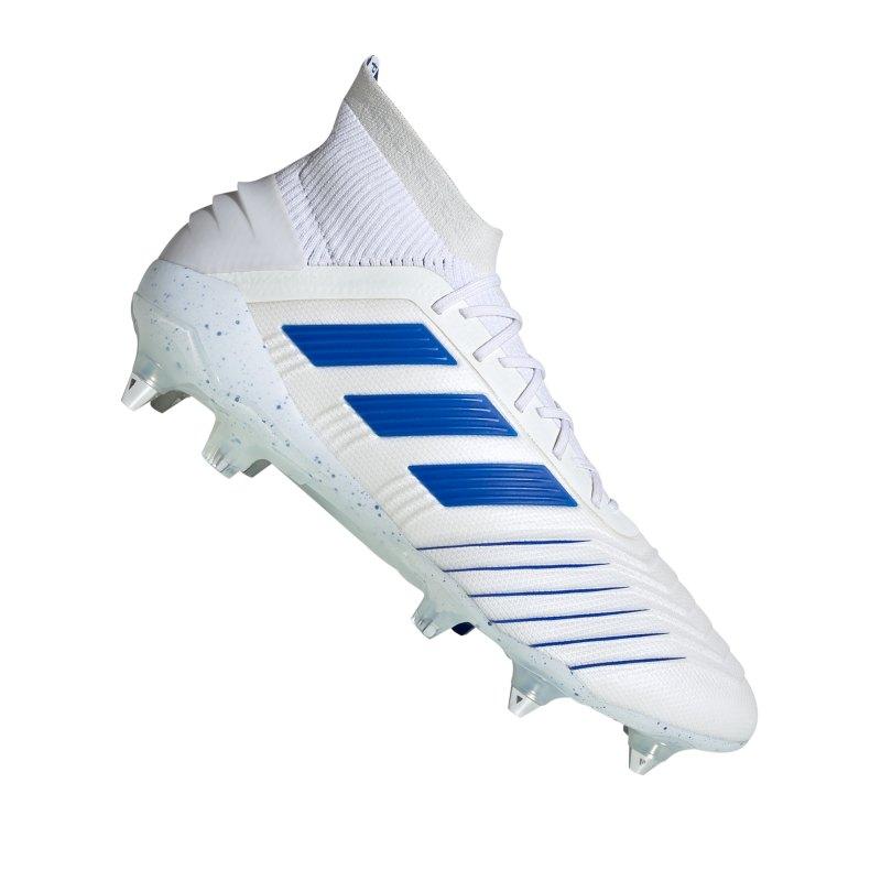 adidas Predator 19.1 SG Weiss Blau - weiss