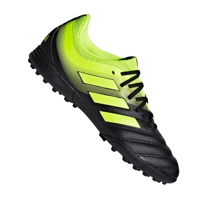 adidas COPA 19.3 TF J Kids Schwarz Gelb - schwarz