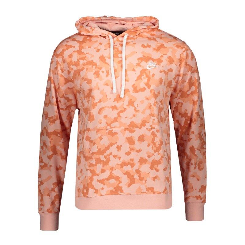 Nike Club Camo Hoody Rosa F800 - orange