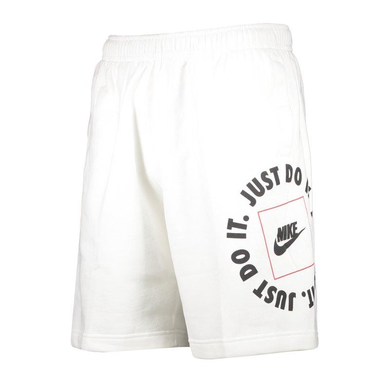 Nike Just Do It Fleece Short Weiss F100 - weiss