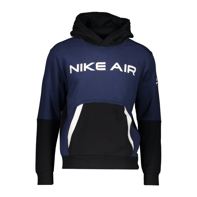 Nike Air Fleece Hoody Blau Schwarz F410 - blau