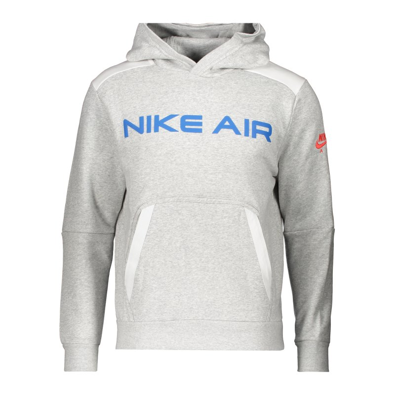 Nike Air Fleece Hoody Grau Weiss F052 - grau