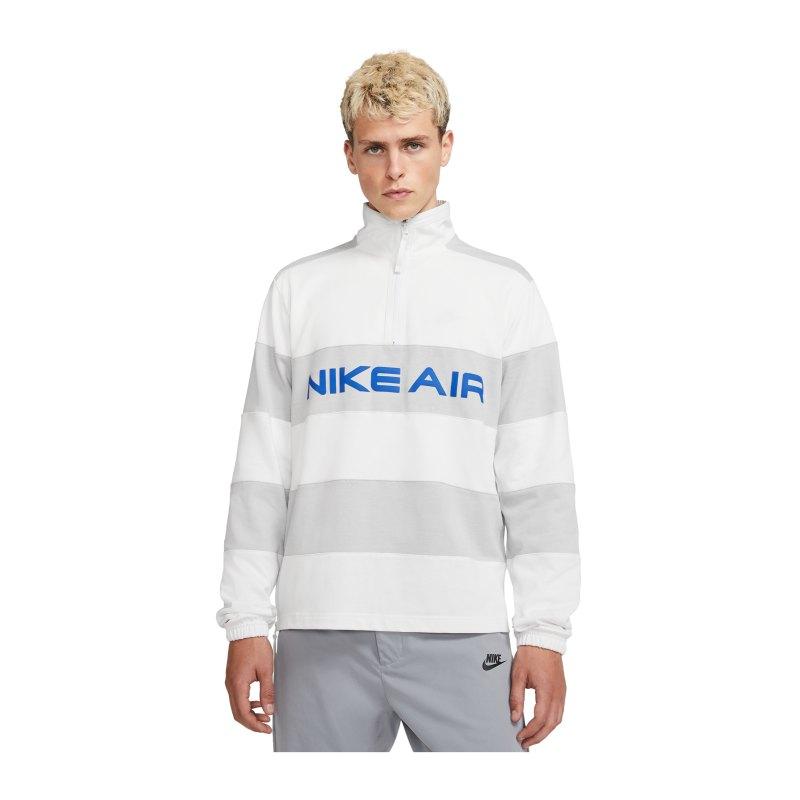 Nike Air Midlayer Sweatshirt Weiss Grau F121 - weiss