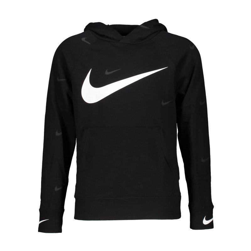 Nike Swoosh Hoody Kids Schwarz F010 - schwarz