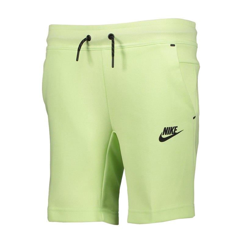 Nike Fleece Short Kids Grün Schwarz F383 - gruen