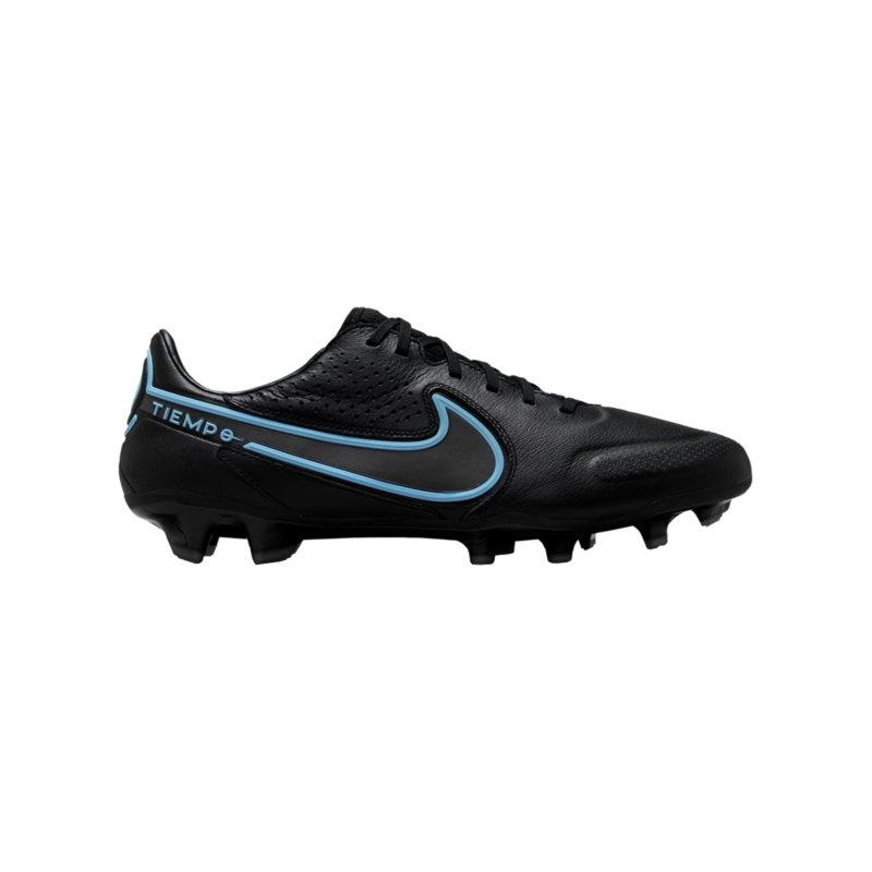 Nike Tiempo Legend IX Renew Pro FG Schwarz Blau F004 - schwarz