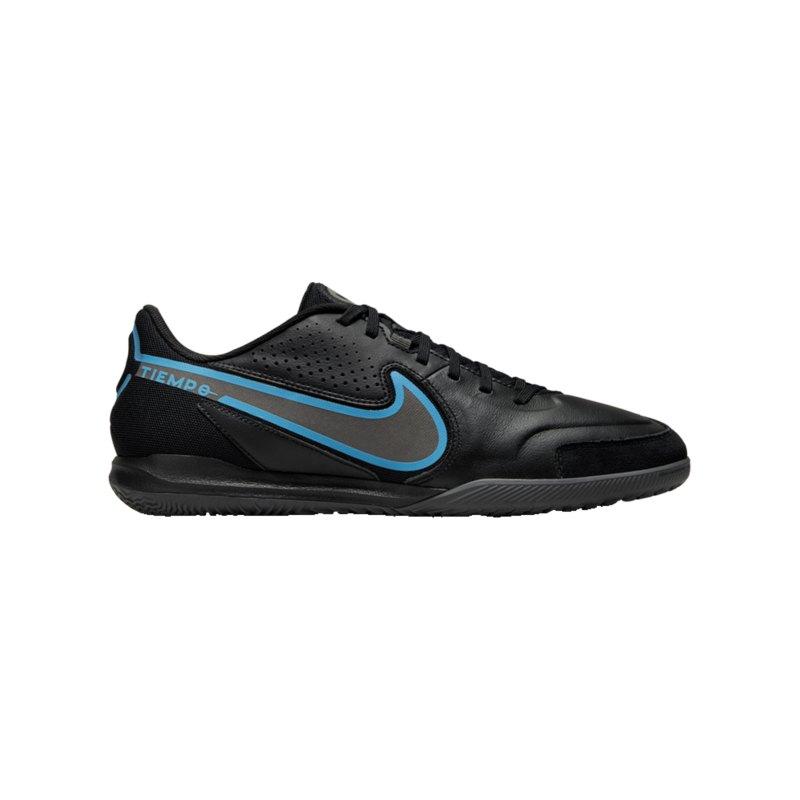 Nike Tiempo Legend IX Renew Academy IC Halle Schwarz Blau F004 - schwarz