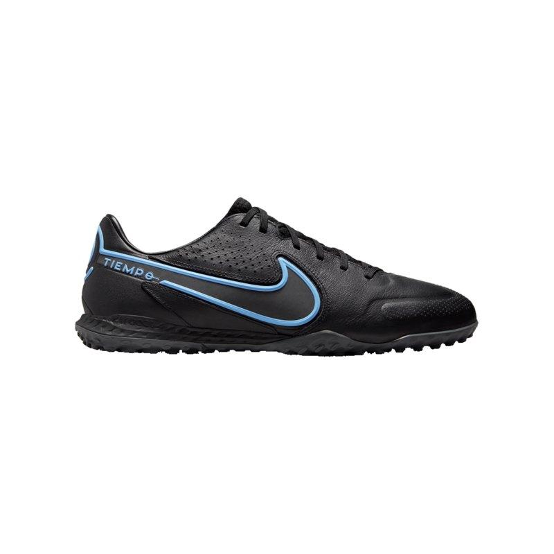 Nike React Tiempo Legend IX Renew Pro TF Schwarz Blau F004 - schwarz