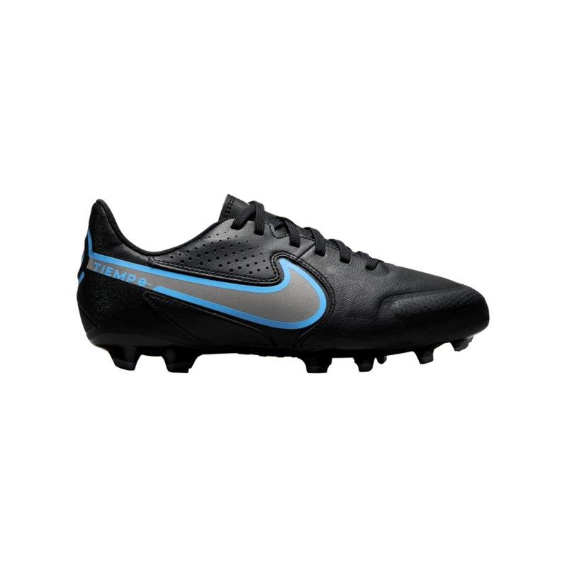 Nike Jr Tiempo Legend IX Renew Academy FG/MG Kids Schwarz Blau F004 - schwarz