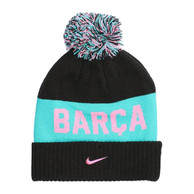 Nike FC Barcelona Pom Beanie CL Schwarz F010 - schwarz