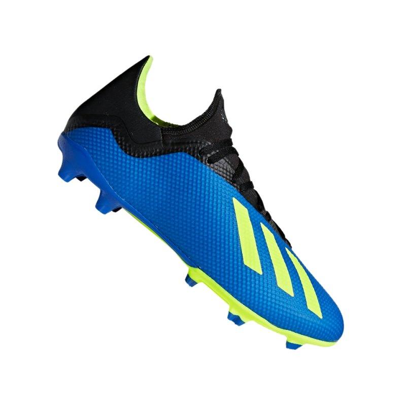 adidas X 18.3 FG Blau Gelb - blau