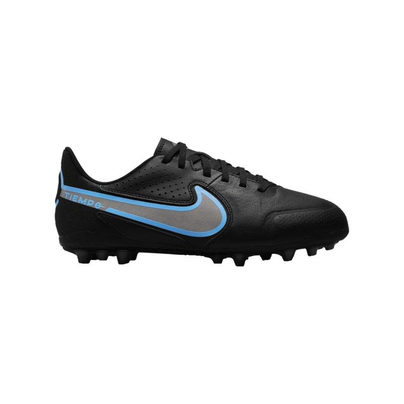 Nike Jr Tiempo Legend IX Renew Academy AG Kids Schwarz Blau F004 - schwarz