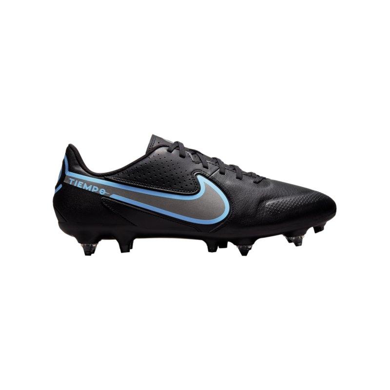 Nike Tiempo Legend IX Renew Academy SG-Pro AC Schwarz Blau F004 - schwarz