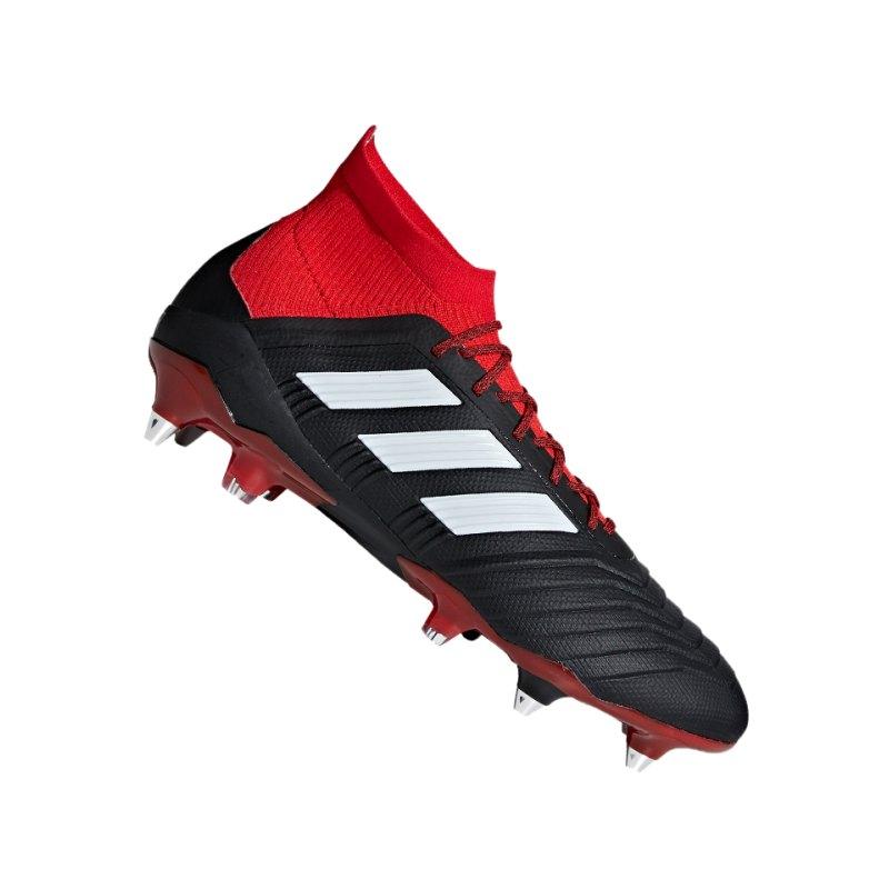 adidas Predator 18.1 SG Schwarz Rot - schwarz