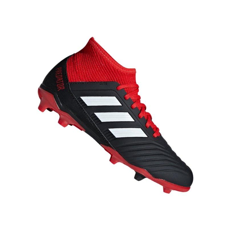 adidas Predator 18.3 FG J Kids Schwarz Rot - schwarz