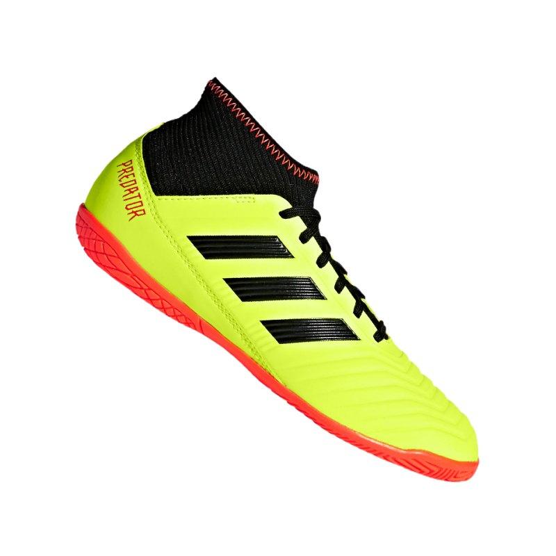 adidas Predator Tango 18.3 IN J Kids Gelb Schwarz - gelb