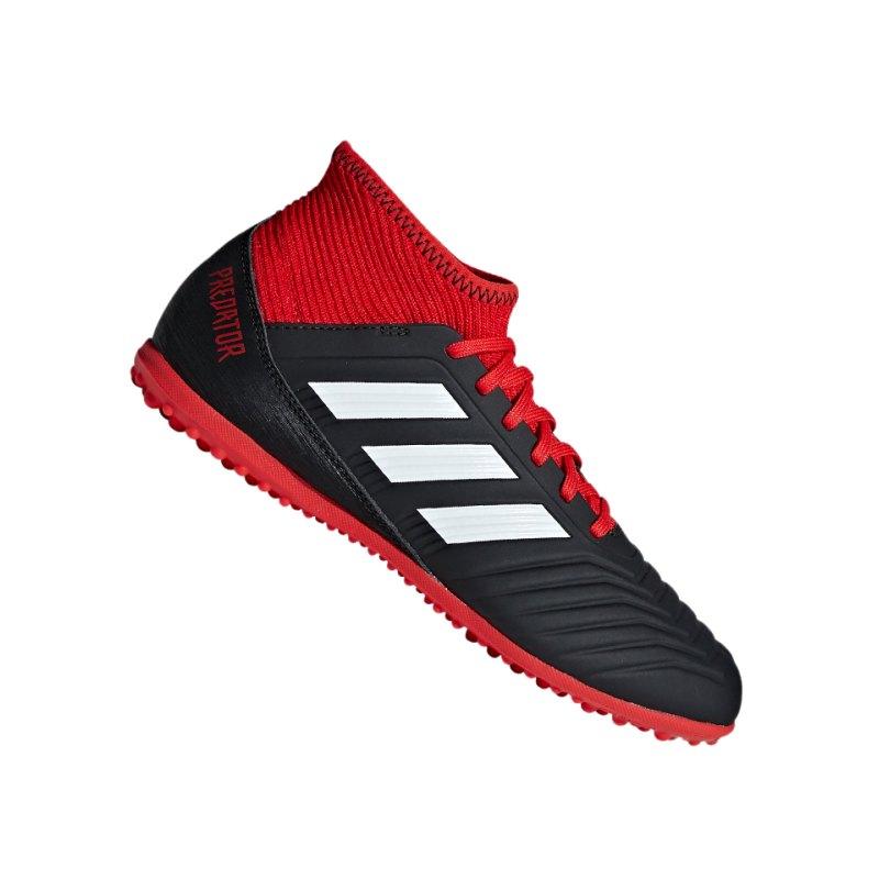 adidas Predator Tango 18.3 TF J Kids Schwarz Rot - schwarz