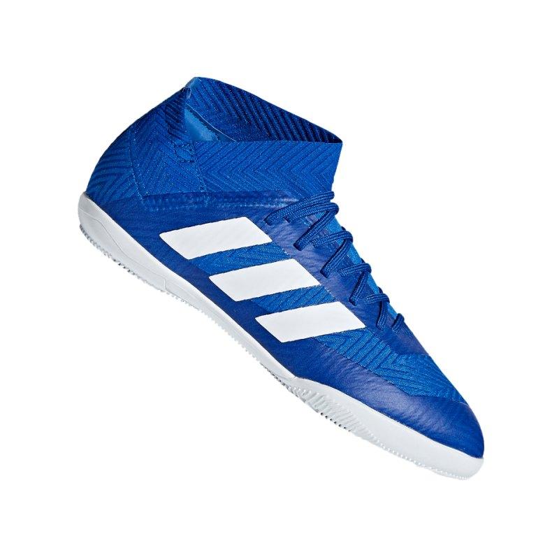 adidas NEMEZIZ Tango 18.3 IN Halle J Kids Weiss - blau